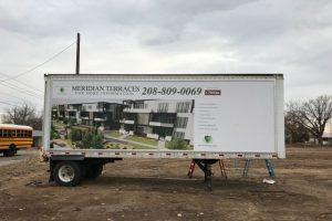 banner on truck