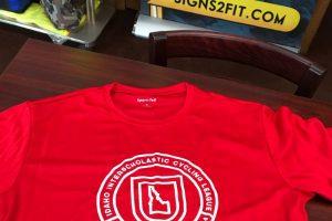 Custom merchandise program - ID High School Mnt Biking League - volunteer shirt