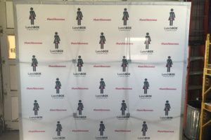 Lunchbox Wax Step and Repeat Backdrop
